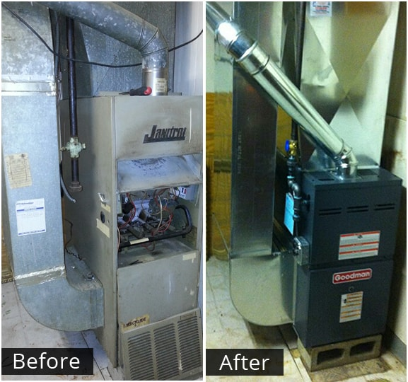 Home Heating Units before and after